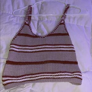 american eagle knitted tank top size small